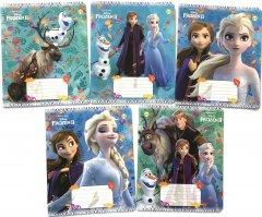 Набор тетрадей ученических 25 шт Тетрада Disney Frozen-2. Осень А5 в клетку 12 листов (5 дизайнов) (11988)