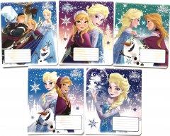 Набор тетрадей ученических 25 шт Тетрада Disney Frozen Снежная А5 в клетку 12 листов (5 дизайнов) (11918)