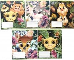 Набор тетрадей ученических 25 шт Тетрада Disney Герои Диснея-1 А5 в клетку 12 листов (5 дизайнов) (11985)