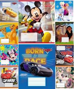 Набор тетрадей ученических 25 шт Тетрада Disney Микс А5 с УФ лаком в клетку 12 листов (10 дизайнов) (12353)