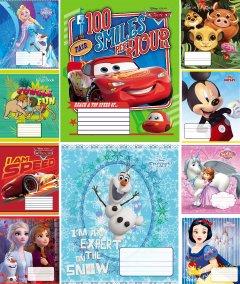 Набор тетрадей ученических 25 шт Тетрада Disney Микс №1 в клетку 12 листов (10 дизайнов) (12396)
