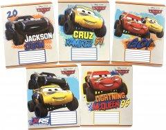 Набор тетрадей ученических 25 шт Тетрада Disney Тачки. Молния в клетку 12 листов (5 дизайнов) (11991)