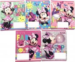 Набор тетрадей ученических 25 шт Тетрада Disney Минни Маус в линию 12 листов (5 дизайнов) (11934)
