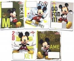 Набор тетрадей ученических 20 шт Тетрада Disney Приключения Микки Мауса в клетку 18 листов (5 дизайнов) (11935)