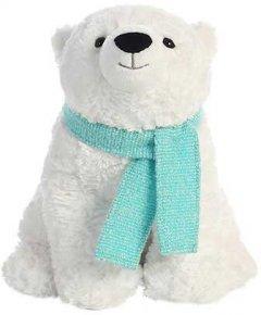 Мягкая игрушка Aurora Медведь полярный с шарфом 25 см (151214A) (092943121409)