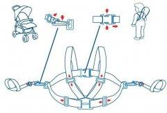 Детские вожжи BabyOno для прогулки и коляски Темно-синие (070) (00-00115744)