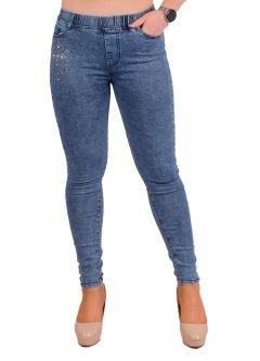 Стрейчеві джинси жіночі зі стразами Ластівка А1046-6-A. 29 Розмір 44-46