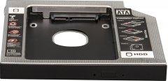 "Адаптер подключения Frime HDD/SSD 2.5"" в отсек привода ноутбука SATA/mSATA 9.5mm (FHDC950M)"