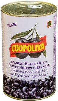 Маслины Coopoliva с косточками Черные 4.3 л (8410522002864)