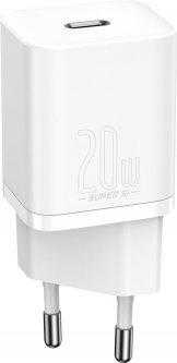 Сетевое зарядное устройство Baseus Super Silicone PD Charger 20W (1Type-C) White (CCSUP-B02)
