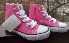 Високі кеді для дівчинки American Club LH 9120-08/12 рожевого кольору. 36