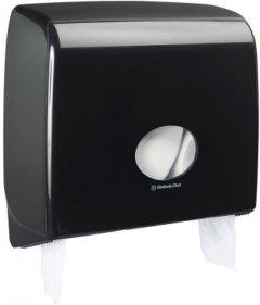 Диспенсер для туалетной бумаги KIMBERLY CLARK PROFESSIONAL Aquarius на большой и малый рулоны (7184) черный
