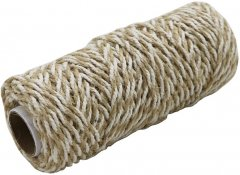Шнур Радосвіт джут-хлопок натурально-белый, 50 метров (4820172933311)
