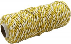 Шнур Радосвіт джут-хлопок желто-белый, 50 метров (4820172933335)
