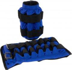 Утяжелительные манжеты Onhillsport 4 кг (под грузы 2х4 кг, 500 гр - 16 шт) комплект Синие (МТ-0252)