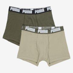 Трусы-шорты Puma Basic Boxer 2P 90682342 L 2 шт Dark Green Combo (8720245045315)