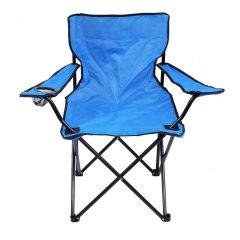 Стул раскладной туристический Supretto с подстаканником 78 х 47 х 80 см Голубой (5046-10001)