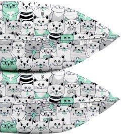 Набор наволочек Cosas Set Pillow Cats Gray 50х70 2 шт (4822052023693)
