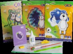 Набор Бумажный бум для творчества ZiBi с бумагой и картоном в пластиковой папке (ZB.9972)