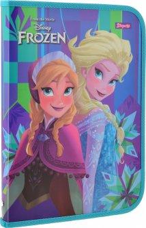 Папка для труда 1 Вересня для девочек FC Frozen пластиковая на молнии (491588) (5056137198726)