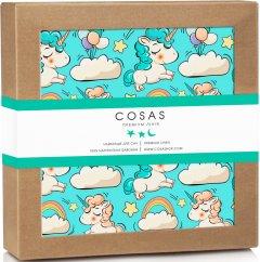 Непромокаемая пеленка Cosas Бязь 70х120 см Diaper_UnicornMint Зеленая (4822052024409)
