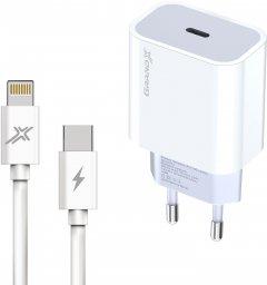 Зарядное устройство Grand-X USB-C 20W PD 3.0 быстрая зарядка для Apple + cable PD - Lightning CU 1 м (CH-770L)