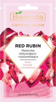 Маска для лица Bielenda Crystal Glow Красный рубин Питание 8 г (5902169042394)