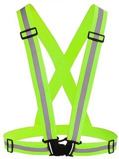 Светоотражающий пояс-жилет UFT для велосипедистов waistcoat Green (UFTrefcoatGreen)