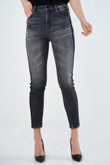 Темно-сірі жіночі джинси з лампасами Miss Sixty 4008 29