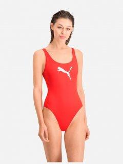 Купальник слитный женский Puma Swim Women Swimsuit 1P 90768502 S Red (8718824818634)