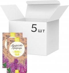 Упаковка Травяной чай в пакетиках Мудрость Природы Иван-чай 20 х 5 шт (4820167091873)