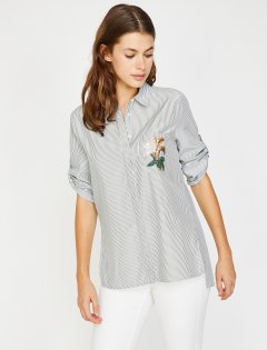 Рубашка Koton 8YAK63835EW-10M 36 Khaki Stripe (8681890917603)