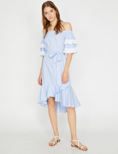 Платье Koton 8YAK82405UW-03N 42 Blue Stripe (8681953138402)