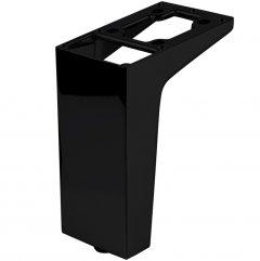 Ножка мебельная Ferro Fiori M 12020 100 мм с площадкой 50 х 75, нагрузка 200 кг Черный (VR51258)