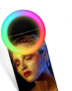 Селфи кольцо XoKo RGB LED 9 см Black (BS-007U-BK)