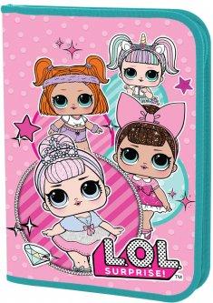 Папка для труда YES пластиковая на молнии А4 LOL Sweety для девочек (491730) (5056137158379)