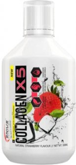 Коллаген Genius Nutrition Collagen-X5 500 мл Strawberry (5402386010720)