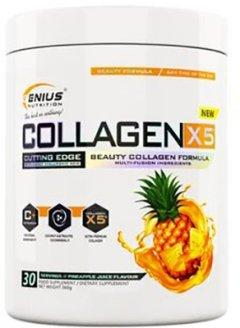 Коллаген Genius Nutrition Collagen-X5 360 г Pineapple (7350592743445)