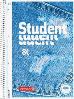 Колледж-блок Brunnen А4 Premium в линейку 80 листов Jeans (106752703)