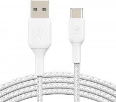 Кабель Belkin USB-A - USB-С Braided 2 м White (CAB002BT2MWH)