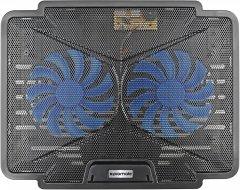 Охлаждающая подставка для ноутбука Promate AirBase-1 Black (airbase-1.black)