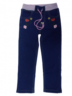 Джинси для дівчинки на флісі YUKE 33937 ріст 104