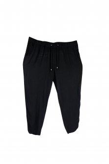 Женские летние брюки с поясом - резинкой и шнурком ESMARA 52 черный WE-550023