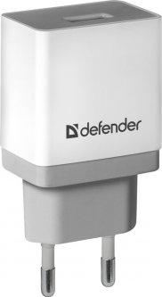 Сетевое зарядное устройство Defender UPA-21 1xUSB 5V/2.1А White/Grey (83571)