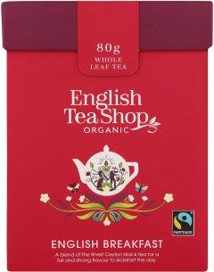 Чай черный English Tea Shop English breakfast Органический + Ложка 80 г (680275060055)
