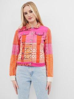 Джинсовая куртка Desigual 71E2JC9/3064 40 Оранжевая (8434486013940)