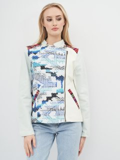 Куртка из искусственной кожи Desigual 75E29A3/5000 42 Синяя (8434486462410)