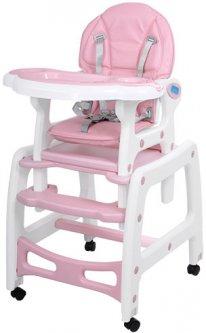 Стульчик для кормления Bambi M 1563-8-1 (pink) (6903177035018)