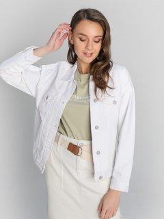 Джинсовая куртка O'STIN Casual GXD10DSI1B M Молочная (2990021169061)