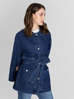 Джинсовая куртка O'STIN LJ6W61D4S S Синяя (2990035010380)
